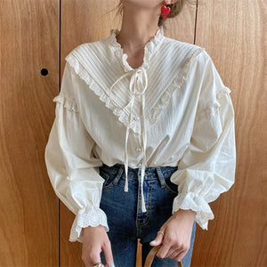 Vintage Lace Blouse - nightcity clothing