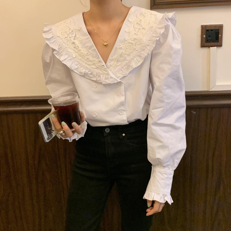 Vintage Ruffle Blouse - nightcity clothing