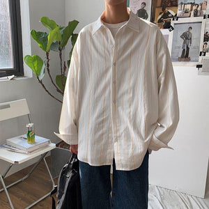 Wide Pinstripe Shirt - nightcity clothing