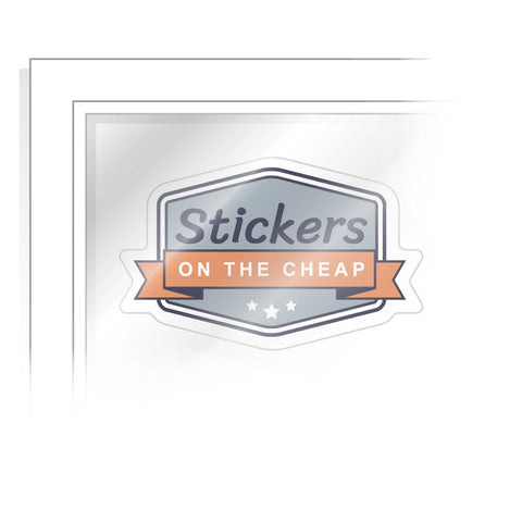 Custom Front Adhesive Sticker Stickers On The Cheap