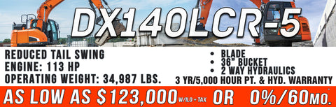 Doosan DX140LCR-5 for sale in michigan