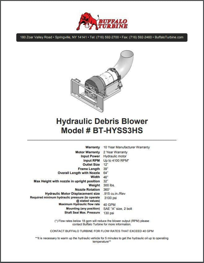 BT-HYSS3HS | Buffalo Turbine