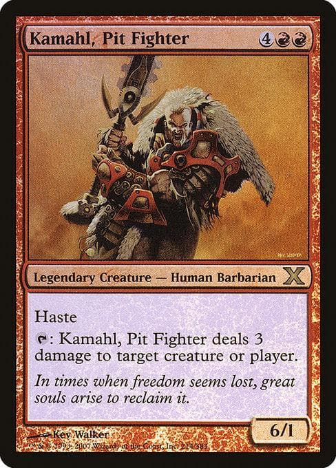 Kamahl, Pit Fighter [Tenth Edition] | Goblin Games NZ