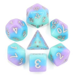 RPG Dice - Pastel Candy Blueberry Bubblegum - Set of 7 | Goblin Games NZ
