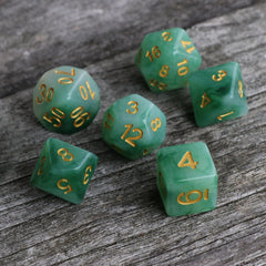 "RPG Dice - Green ""Jungle Jade"" - Set of 7 