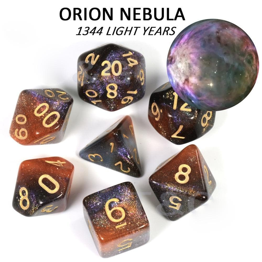 "RPG Dice - Cosmos ""Orion Nebula"" - Set of 7 