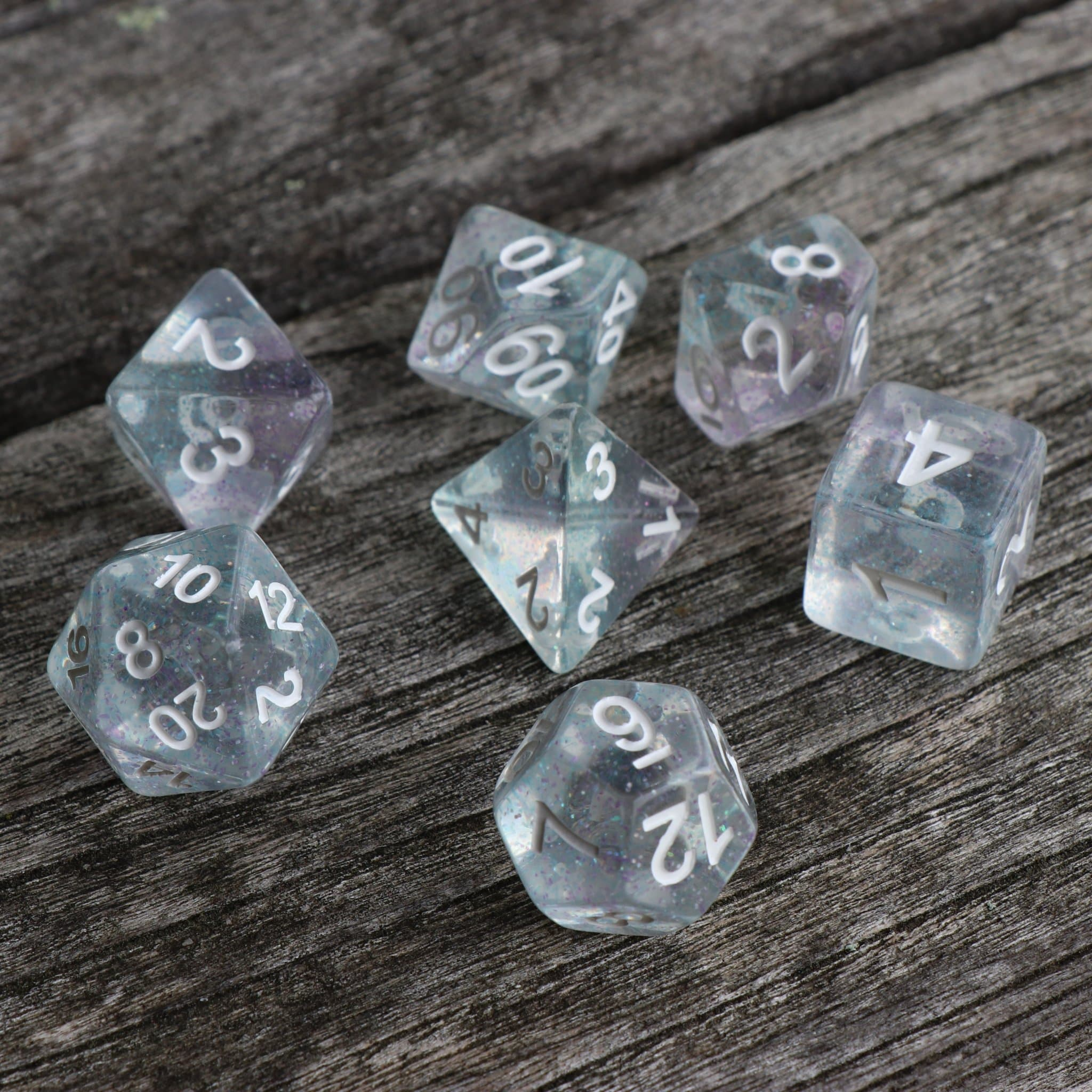 "RPG Dice - ""Phantom Sparkle"" - Set of 7 