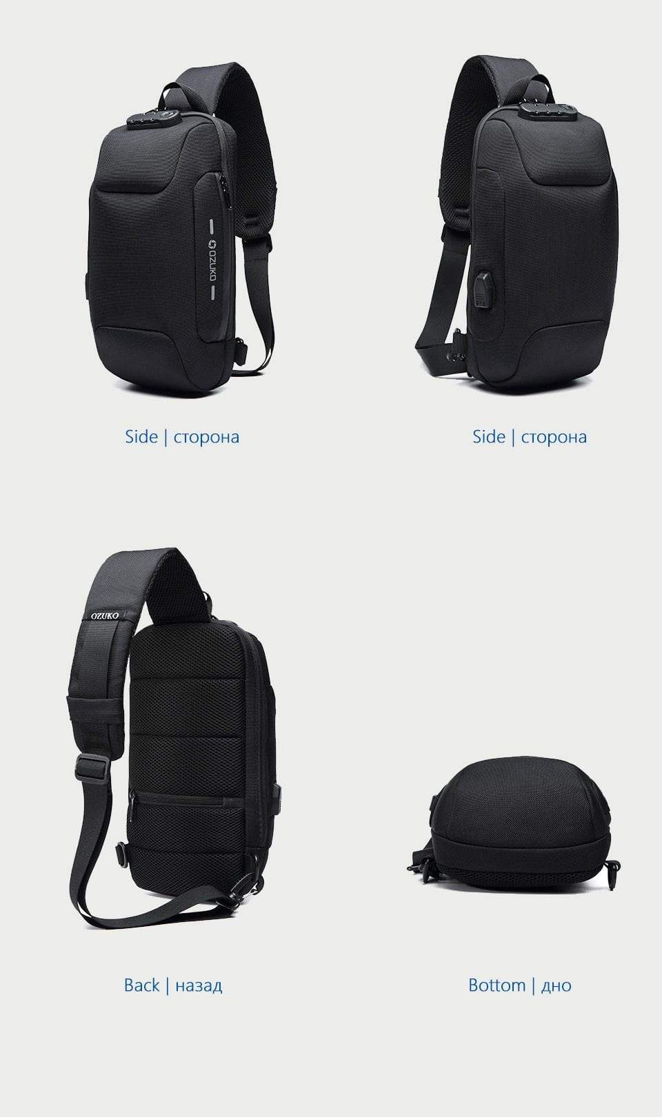 Anti-theft Waterproof Crossbody Backpack - More than a backpack