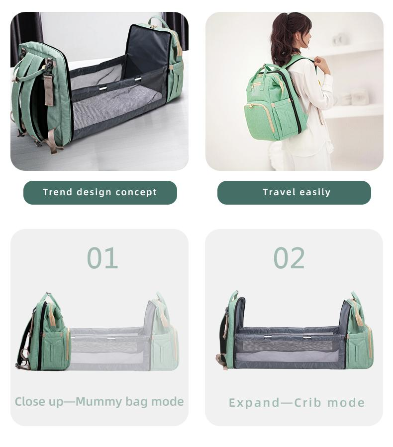 Baby Crib Diaper Backpack - More than a backpack