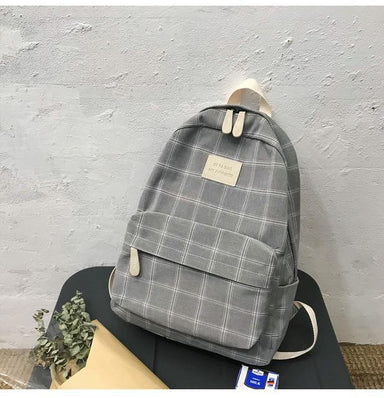 Checked Book Backpack - More than a backpack