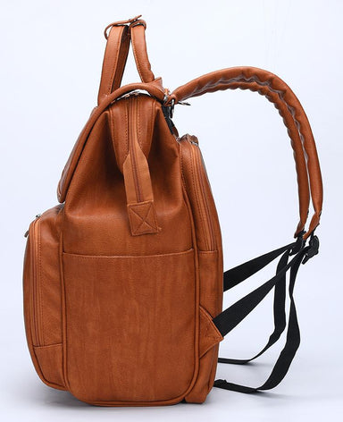 Faux Leather Diaper Bag Backpack - More than a backpack