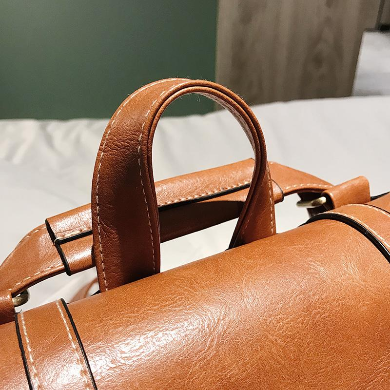 Faux Leather Mochila Satchel Backpack - More than a backpack