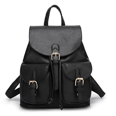 Faux Leather Pocket Backpack - More than a backpack