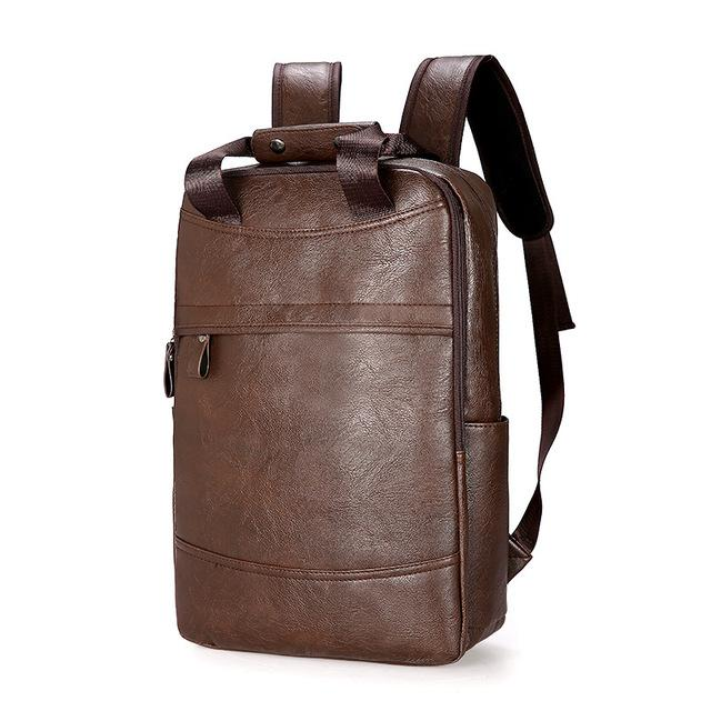 Faux-Leather Travel Backpack - More than a backpack