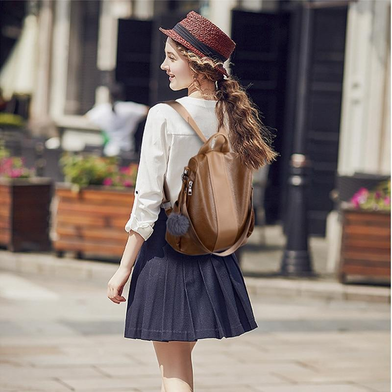 Faux-Leather Vintage Backpack - More than a backpack