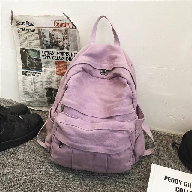 Front Pocket Canvas Backpack - More than a backpack