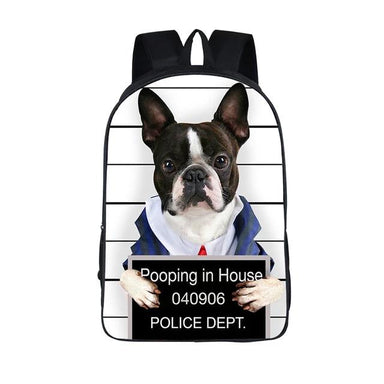 Funny Dog Canvas Backpack - More than a backpack
