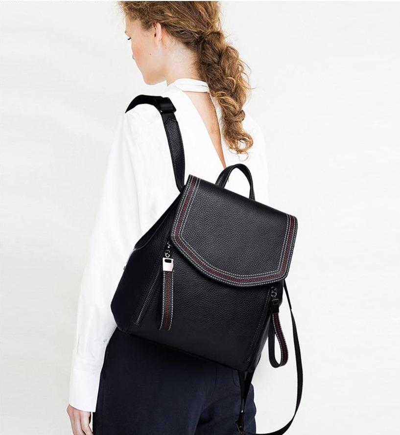 Genuine Leather Thread Backpack - More than a backpack