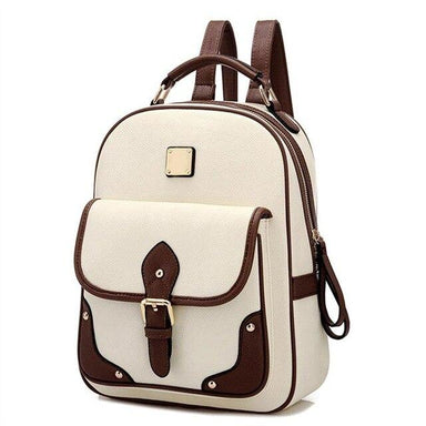 Japanese Style Faux-Leather Backpack - More than a backpack