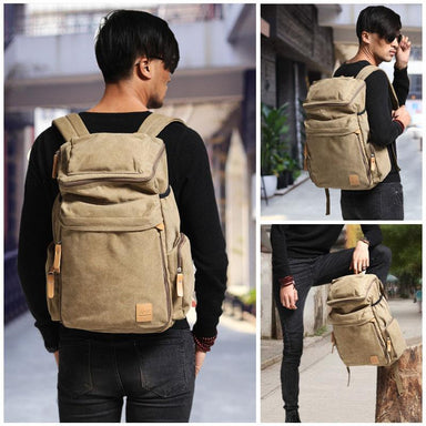 Large Canvas Travel Backpack - More than a backpack