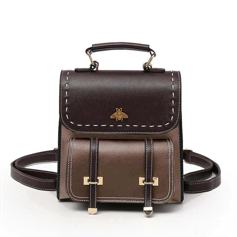Little Bee Vintage Faux-Leather Backpack - More than a backpack
