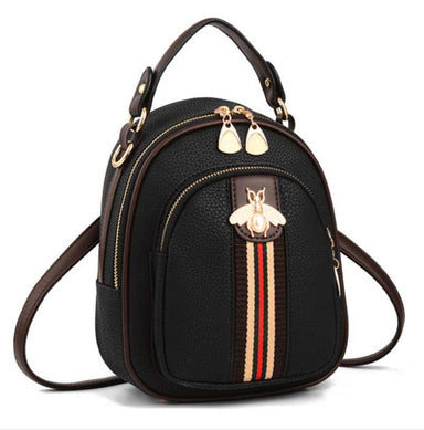 Mini Bee Faux-Leather Ribbon Backpack - More than a backpack