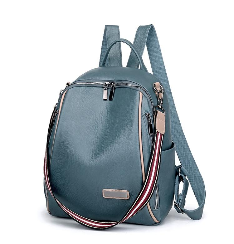 Multi-Strap Faux Leather Backpack - More than a backpack