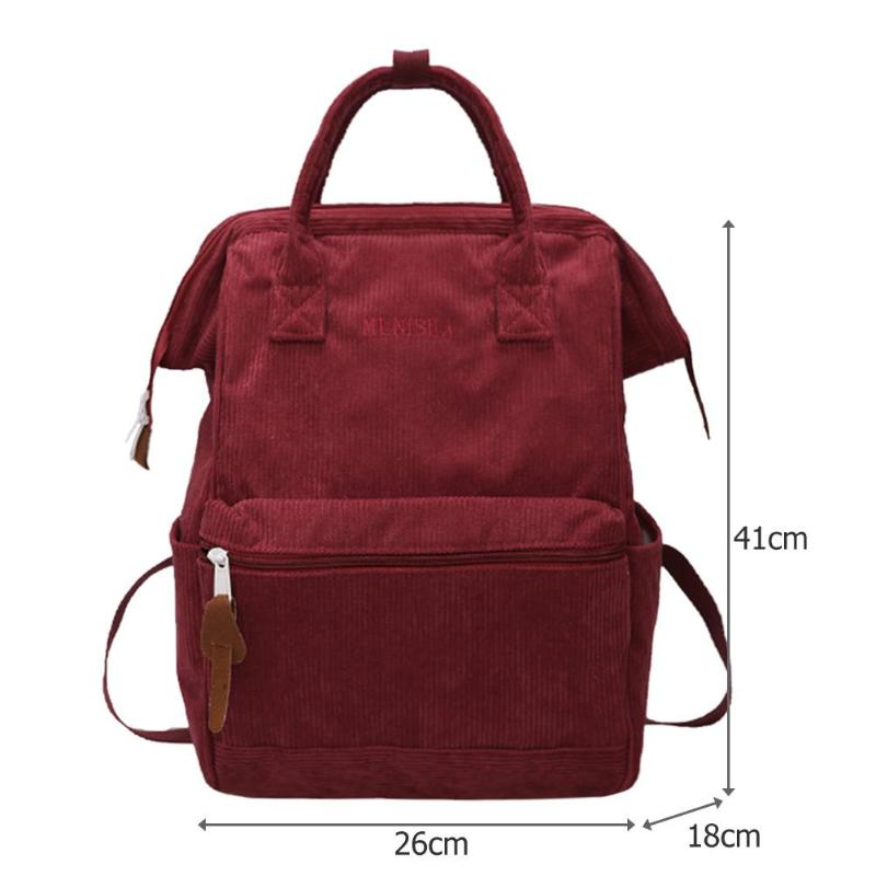 Casual Corduroy Backpack