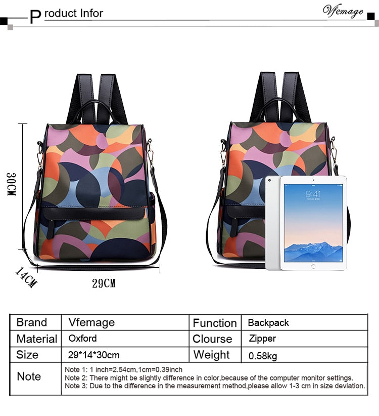Oxford Anti-Theft Backpack - Colorful - More than a backpack