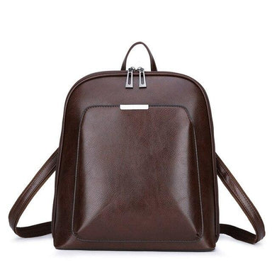 Sleek Faux Leather Backpack - More than a backpack