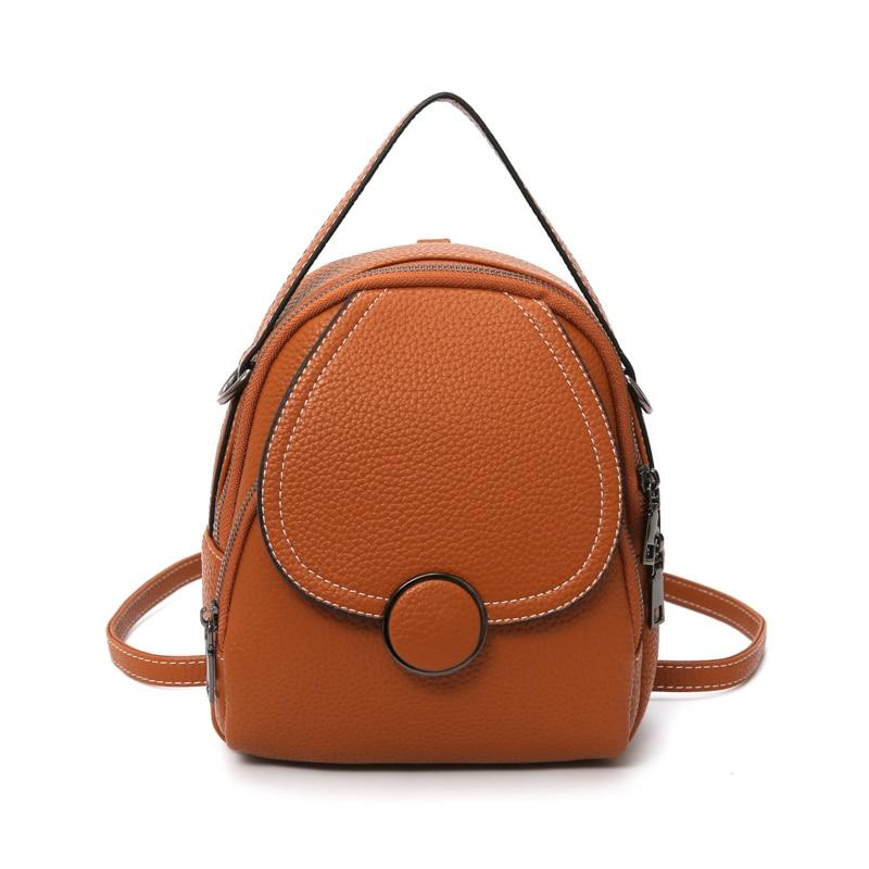 Soft Touch Faux-Leather Mini Backpack - More than a backpack