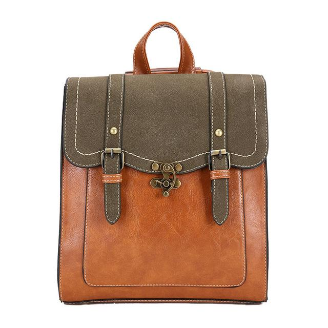 'The Book Bag' - Vintage Faux Leather Backpack - More than a backpack