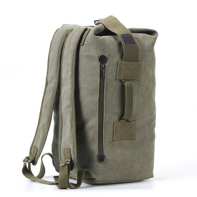 'The Military' - Canvas Duffel Backpack - More than a backpack