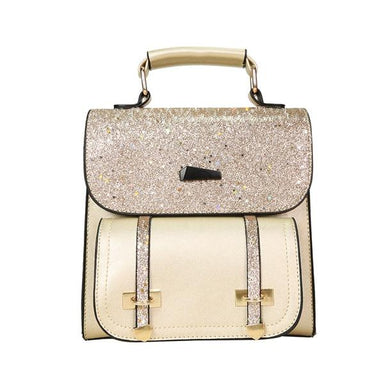 """The Sparkle"" - Faux-Leather Glitter Backpack - More than a backpack"