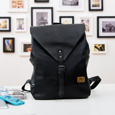'The Vintage Traveler' - Faux Leather Backpack - More than a backpack