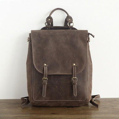 Vintage Leather Travel Backpack - More than a backpack