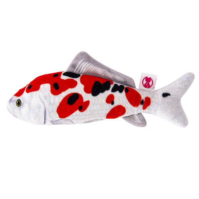 Silver Vine Plush Japanese Koi Cuddle Fish