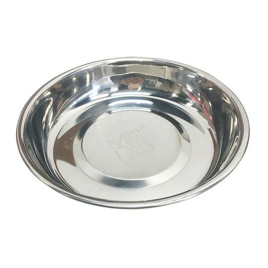 Stainless Steel Saucer-Shaped Bowl