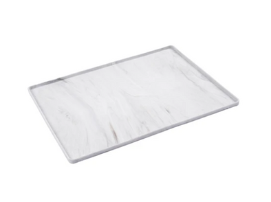 Silicone Non-Slip Bowl Mat with Raised Edge - Marble