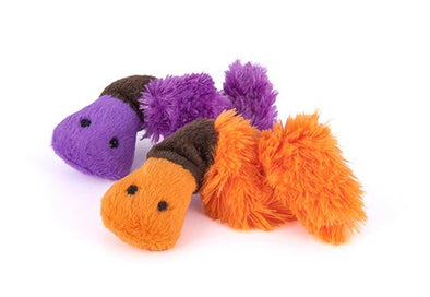 Feline Frenzy Plush -Wiggly Wormies (2 pack)