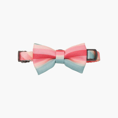 Collar with Bow Tie - Vintage Stripes
