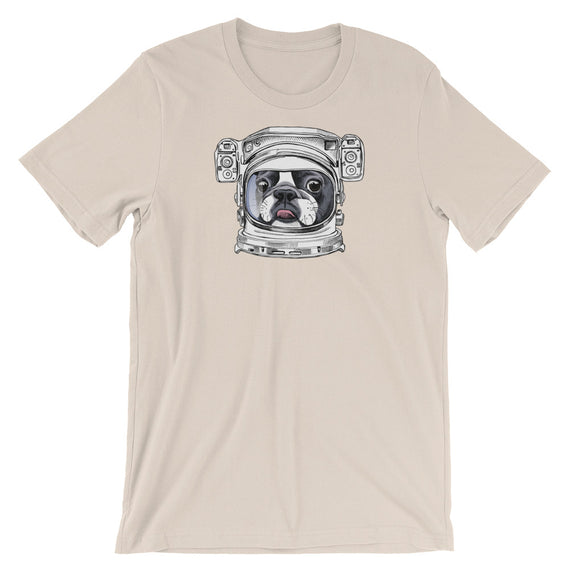 Boston Terrier Spaceman Dog T-Shirt - Doggo Clothing Company