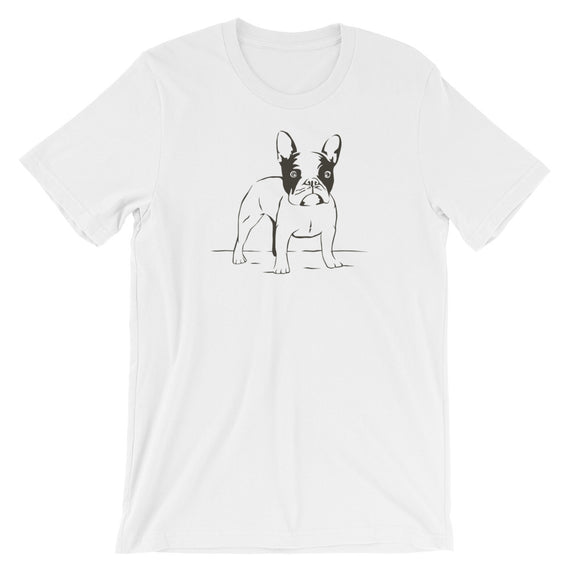 Frenchie Hand Sketch Dog T-Shirt - Doggo Clothing Company