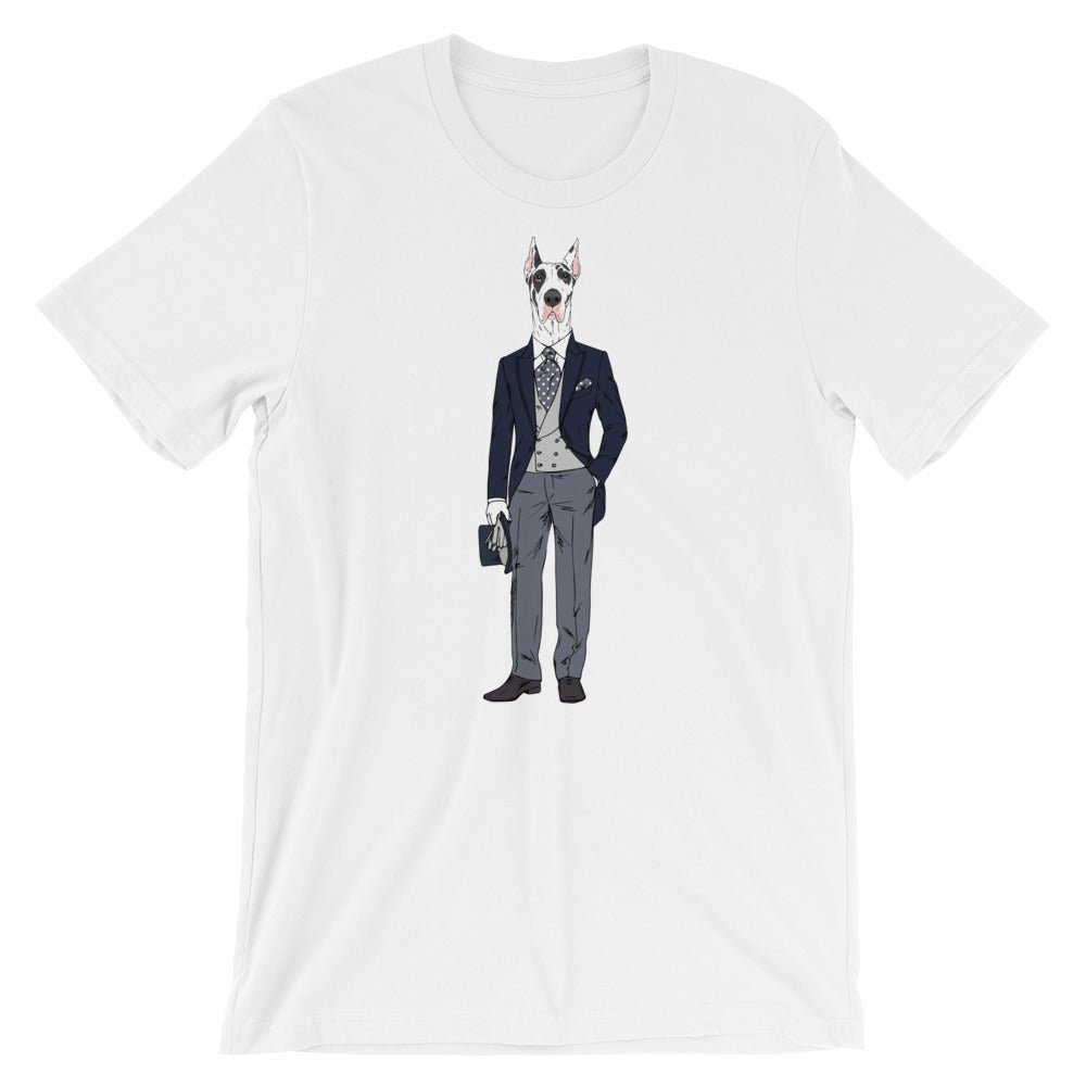 Great Dane Wearing Tux Dog T-Shirt