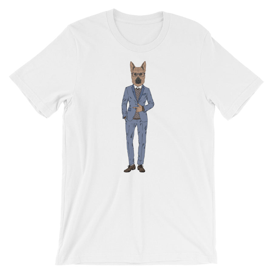 German Shepherd Suit-Wearing Dog T-Shirt