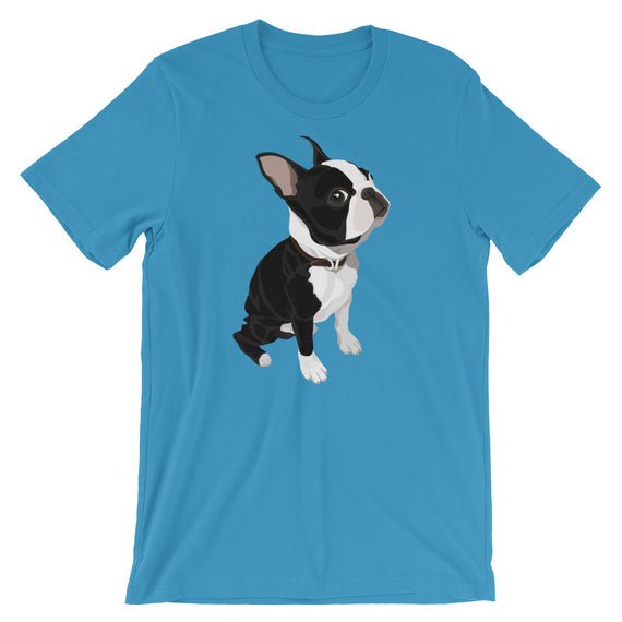Boston Terrier Who Me Dog T-Shirt - Doggo Clothing Company