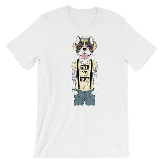 Boston Terrier Yes I'm True T-Shirt - Doggo Clothing Company
