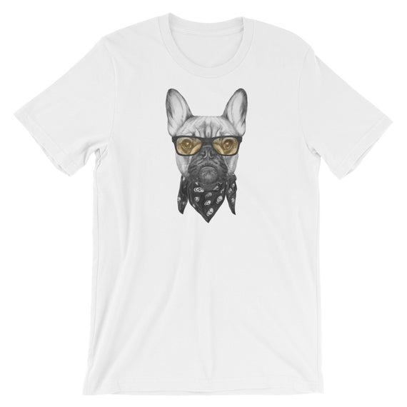 Frenchie Bandana Biker Dog T-Shirt