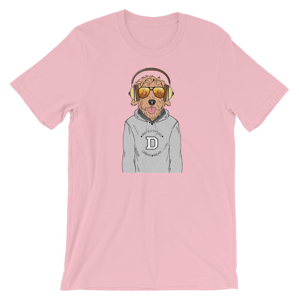 Goldendoodle Music And Aviators T-shirt