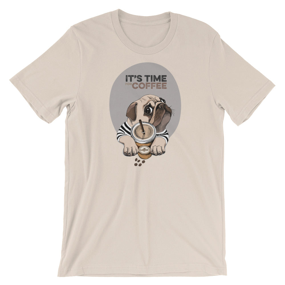 Pug It's Coffee Time Dog T-Shirt